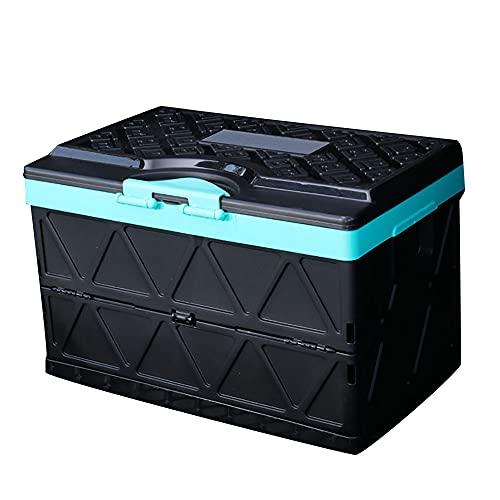 Caja De Almacenamiento Plegable con Tapa, 200 Kg De Capacidad De Carga, 48 ML De Gran Capacidad, Puede Almacenar Juguetes De Recuerdo (Anillo Verde Turquesa Negro Diamante)