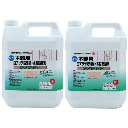 白アリ予防駆除剤 木材防腐剤 水性 ジノテクト 木部用3.2L×2本 無色