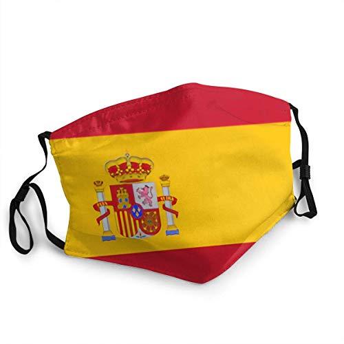 Mundschutz Windfeste Gesichtsbedeckung mit spanischer Flagge, wiederverwendbares, waschbares Tuch, Gesichtsbedeckung