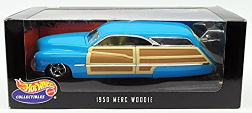 Hot Wheels Collectibles 100% 1950 Merc Woodie Blau 1 18