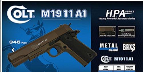 Colt 1911 Dark Earth 13bb'S E=0,500 J. Max /C24 - Culata de metal manual