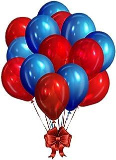 [100 PCS] BLUE 50 RED 50 PCS TORIX glossy shining Party Balloons professional Natural Latex combo Pack of 100 Balloons Bab...