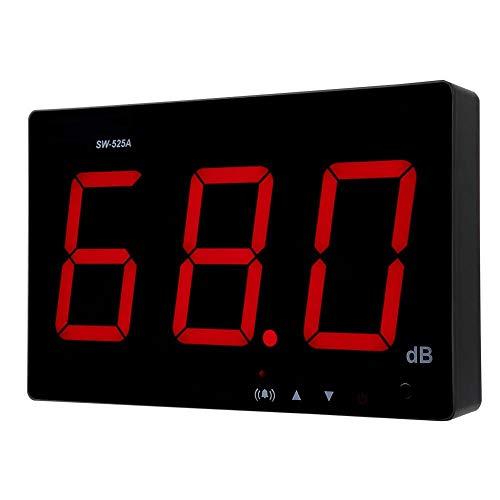 Medidor de nivel de sonido Medidor de ruido de decibelios de alta precisión Pantalla LCD de medición con rango de medición 30-130dB (dB) u oficina en casa