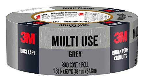 3M Multi-Use Duct Tape for Home & Shop, 1.88 inches by 60 yards, 2960-A, 1 roll