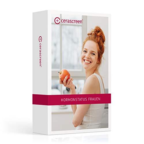 Hormonstatus Frauen von CERASCREEN - Hormontest für Frauen mit Cortisol, Testosteron und Östrogen Test | Hormonprofil Frau Plus | Zertifiziertes Labor | Detaillierter Ergebnisbericht