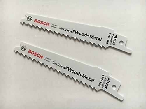 '2pieza 1/2Bosch–Hojas de sierra sable S511DF BIM 100x 19x 0,9mm para madera y metal