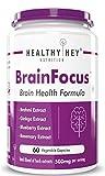 Healthyhey Nutrition BrainFocus - Natural Brain Health Formula for Memory & Focus - 60 Veg Capsules