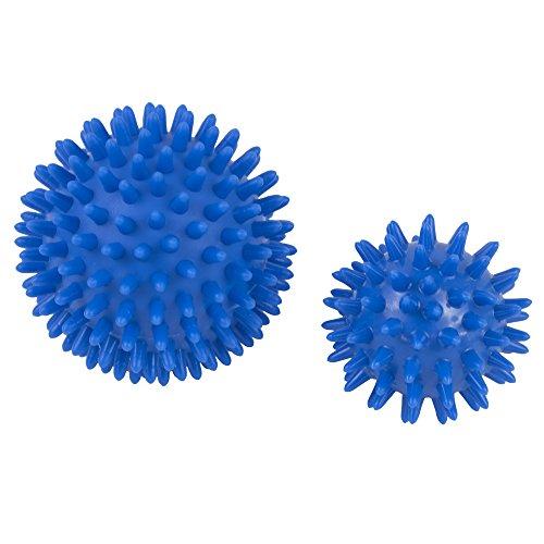 Sfere appuntite per massaggio alla schiena, confezione da 2, per massaggiare i piedi per la fascite plantare,per massaggio di punti di tensione, massaggi sportivi,rilascio miofasciale, digitopressione