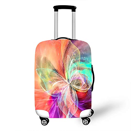 Elastic Luggage Cover, CNNINHAO 3D Print Trolley Case Protective Travel Suitcase Anti Scratch Dustproof Resistant Case Trolley Skin Protector Elasticized Washable (8,M (22-24inch))