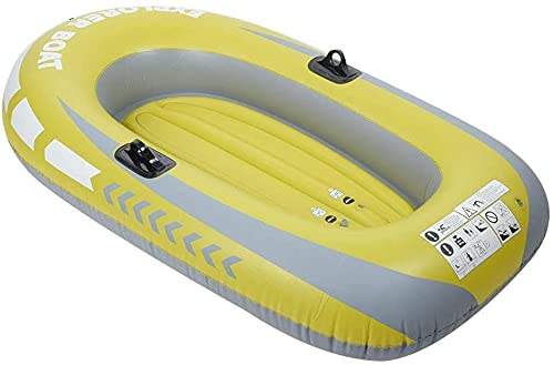 LEXINGCHENG Piscina y Lago Barco Inflable, PVC Inflable 1 Personas Rowing Air Boat Fishing Driving Herramienta de Buceo, Una Persona Barco de Pesca Inflable Kayak