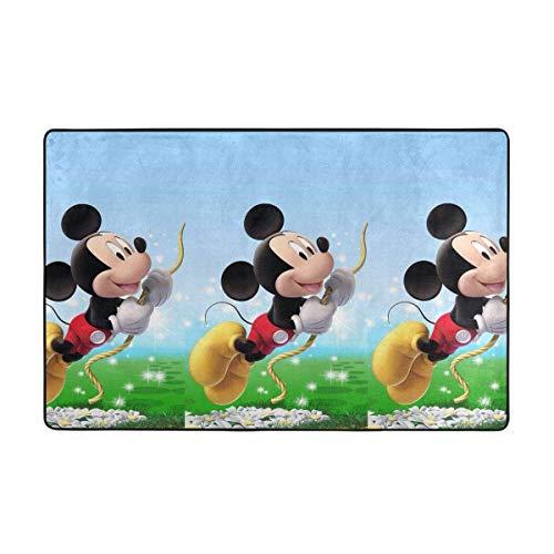 Alfombra grande antideslizante para puerta (60 x 39 pulgadas), diseño de Mickey Mouse
