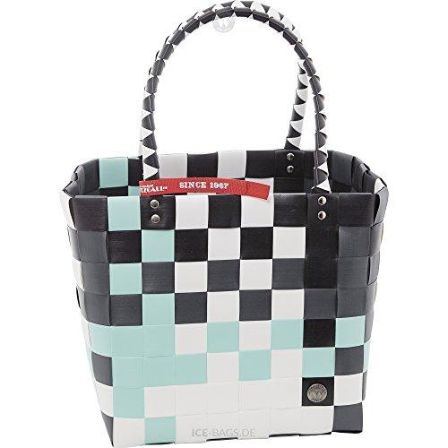 Witzgall Ice-Bag Shopper 5009-48 Einkaufskorb - grün, weiß, schwarz