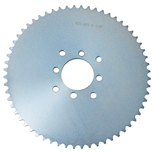 Gekufa Go Kart Sprocket for 40/41/420 Chain, 60 Tooth Sprocket for Go Karts and Mini Bikes