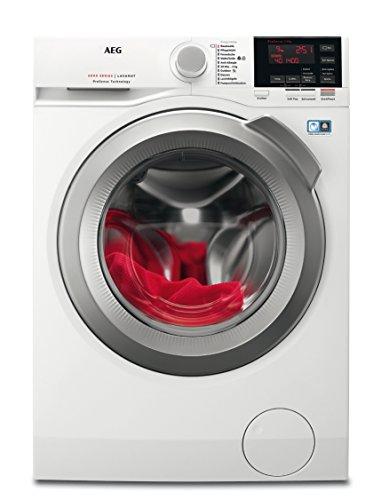 AEG L6FB67490 Waschmaschine / 9 kg / Waschvollautomat mit Mengenautomatik, Nachlegefunktion, Kindersicherung, Schontrommel, AquaControl / 1400 U/min