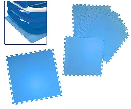 Smart Planet Poolmatten zum Unterlegen - Pool Schutz Unterlegmatte 8 Stück je 50x50x0,4cm - Boden Schutzmatte - Schaumstoffmatte - Bodenschutzfliesen