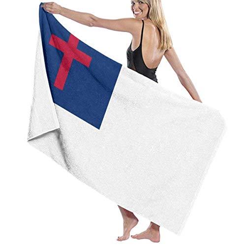 Toalla de microfibra con bandera cristiana, toalla de playa, toalla de baño de secado rápido, toalla de surf (31.5 x 51.2 ')
