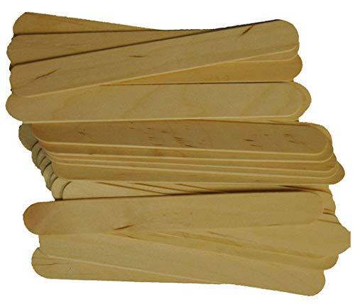 Spa Stix Large Jumbo Waxing Sticks  6quot x 3/4quot Pack of 100 Jumbo Sticks