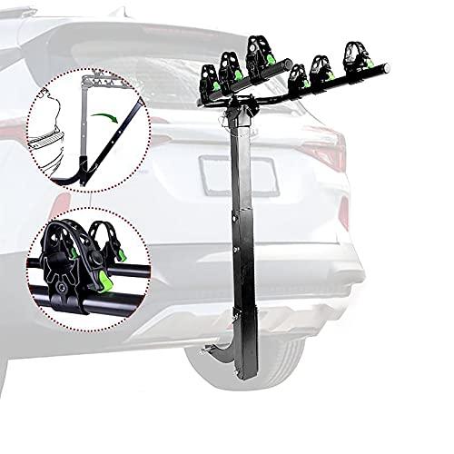 Portabicicletas Trasero, Porta bicicleta para coche, Cinchas para portabicicletas, Soporte Bici Universal, Portabicicletas básico y de fácil manejo (para 3 bicicletas).