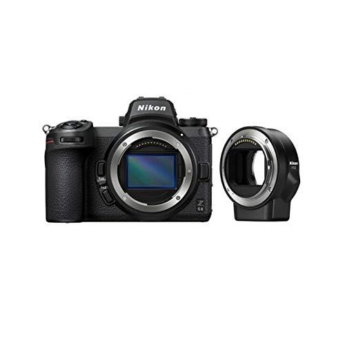 Nikon Z6II Body + FTZ Fotocamera Mirrorless Full Frame, CMOS FX da 24.5 MP, 273 Punti AF, Mirino OLED da 3.690k Punti Quad VGA, 4K, LCD 3.2', Nero, [Nital Card: 4 Anni di Garanzia]