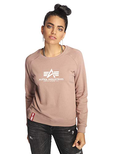 Alpha Industries New Basic Damen Sweater Rosa M