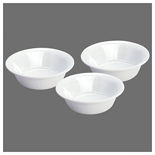 STERILITE BOWL SET, 3-Pack, White