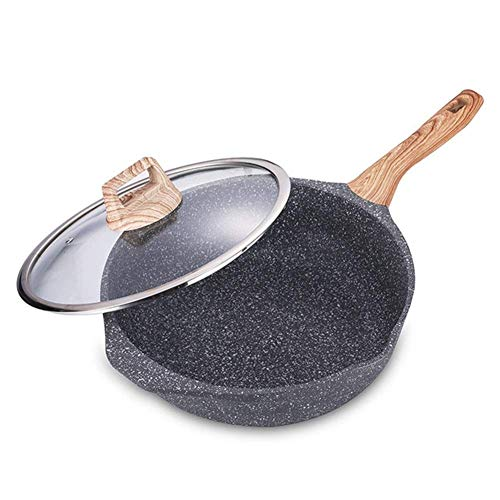 Why Should You Buy Nuokix Household With Lid Flat Bottom Non-stick Pan, Physical Non-stick Pan Deep ...