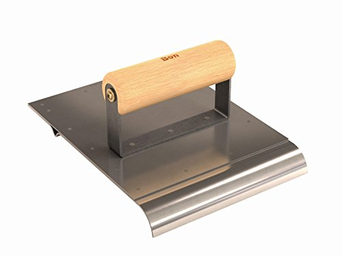 Bon Tool 12-179 6-Inch by 8-Inch Combination Edger and Groover, 3/4-Inch Radius, Wood Handle, Stainless Steel