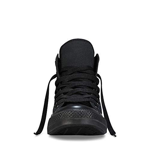 Converse Unisex Chuck Taylor All Star Leather Hi Black Monochrome Sneaker (6.5)