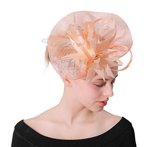 Sombrero Azul Marino y Turquesa Fascinator de la pluma//cualquier Satinado//destacar Color