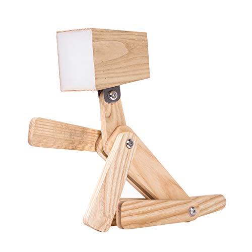 XUANLAN Veilleuse Lampe de Table de Chambre à Coucher pour Enfants de Chiot Nordique en Bois Lampe de Chevet créative Dimmable Touch Switch Lampe de Chevet Night Light