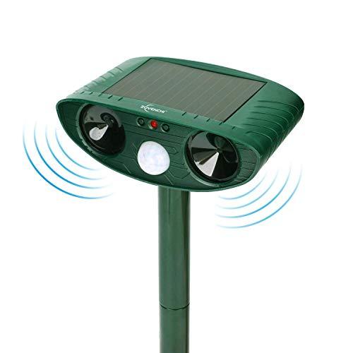 Solar Animal Repeller, Outdoor Motion Detector& Flashing Light, Dog, Cat Repellent, Squirrel, Raccoon, Skunk, Rat, Mole, Deer, Rabbit