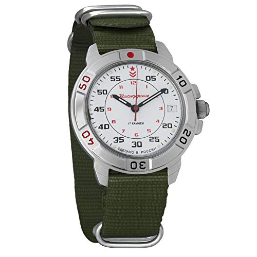 Vostok Komandirskie Classic - Reloj de pulsera militar mecánico para hombre #171/172