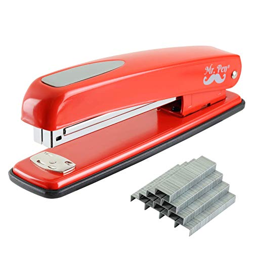 Mr Pen Stapler with Staples Red Stapler 1000 Staples Staplers for Desk Staplers Office Office Stapler Desk Stapler Metal Stapler Standard Stapler Stapler and Staple Stapler Office Supplies