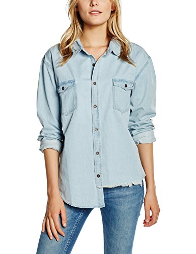 One Teaspoon Liberty Shirt Camicia, Blu, XS Donna