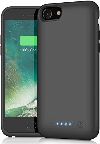 Funda Batería para iPhone 6/6S/7/8, AOPAWA [6000mAh] Funda Cargador Portatil Batería Externa Ultra Carcasa Batería Recargable Power Bank Case para iPhone 6/6S/7/8