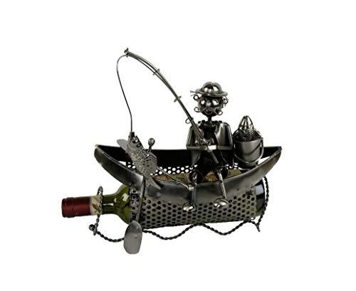 Bavaria Home Style Collection flessenhouder - schip - boot - hengelaar in de boot - wijnflessenhouder - een geweldig cadeau-idee of souvenir