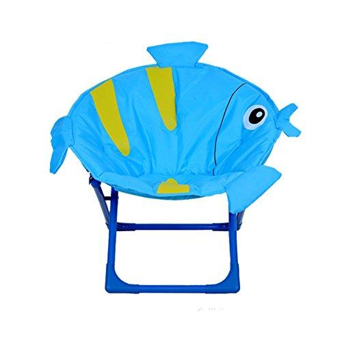 JYSPT Kinder Klappstuhl Baby Stuhl Campingstuhl Schlafzimmer Stuhl für Home Outdoor Strand Camping Stuhl (Blue Tropical Fish)