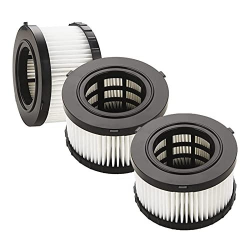 Accesorios de aspiradora 3 Paquetes HEPA Filtro de Ajuste Compatible con DeWALT DC5151H Adecuado DEWALT DC515,DCV517 Vacuumas húmedas/secas de Medio galón Hogar (Color : Blauw)
