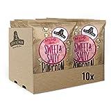 John Altman - 10 bolsas de palomitas de maíz orgánicas - Dulce y Salado - Vegano - Sin Gluten - Bajo en Calorías - 100% Natural - con Aceite de Coco Orgánico - Sin Aditivos Artificiales- 10x90 gramos
