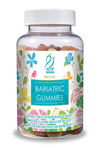 ACTIF Organic Bariatric Multivitamin Gummies with 25+ Organic Vitamins and Minerals for Bariatric Surgery, Advanced Formula - 90 count
