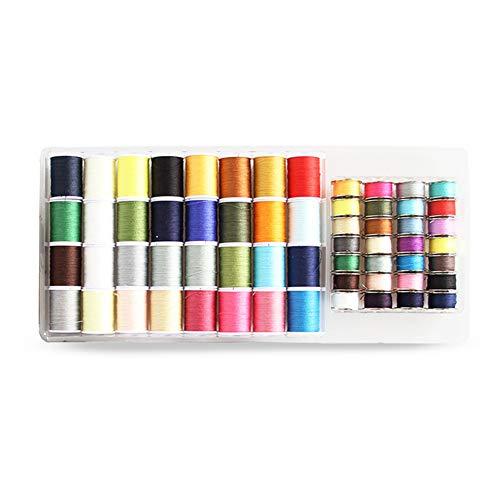Kit Hilo Coser Paquete 60 Herramientas Acolchado Bricolaje Accesorios para Hacer Bordados Costura Profesionales Carretes Multiusos sólidos Hogar Artesanía Manual Tejido Universal(Multicolor)