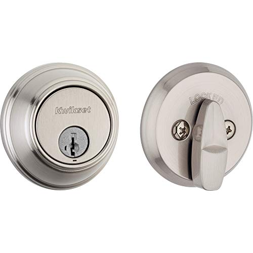 Kwikset 98160-002 816 Key Control Single Cylinder Door Lock Deadbolt featuring SmartKey Security for Master Keying Multi-Family Housing and Tenant Key Control in Satin Nickel