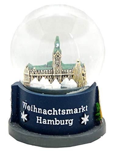 Minium Collection Souvenir Schneekugel Hansestadt Hamburg Weihnachtsmarkt Rathaus