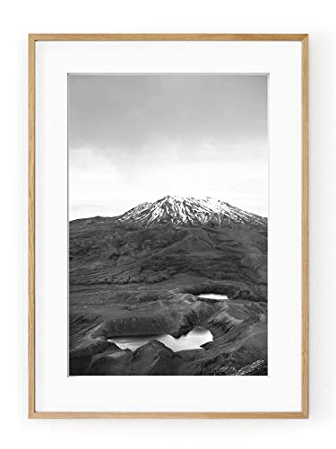MT Ruapehu, New Zeland, Aluminium Frame, Satin Black, Full Format, Multicolored, 30x40 leb418288049