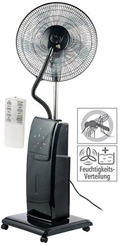 Sichler Haushaltsgeräte Ventilator mit Wasser: Sprühnebel-Standventilator mit Anti-Insekten-Funktion, 100 W, Ø 40 cm (Ventilator Sprühnebel)