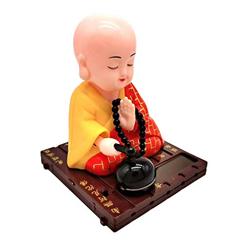 FLAMEER Solar Dancer Figure Toy,Buddhist Monk Solar Pal The President- Dancing Solar Toy - Car Desktop Office - Fun Toy, 7x7x9cm/2.75x2.75x3.54inch - Yellow