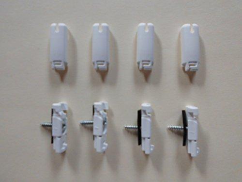 COSIFLOR Spannschuh für verspannte Plissee 4 Stück (weiß) mit Antirutschunterlage aus Gummi