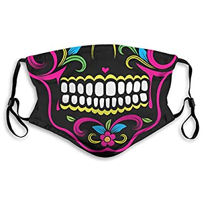 HOTBABYS Sugar Skull Reusable Activated Carbon Filter Face Covering with Replaceable Filter for Men Women S