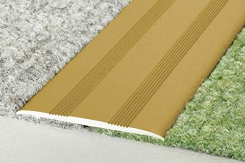 1 Stück | Übergangsprofile | Alu | eloxiert | 1800x35x2mm | A08SK | gold