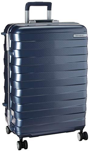 Samsonite Framelock Hardside Expandable with Spinner Wheels, Ice Blue, Checked-Medium 25-Inch